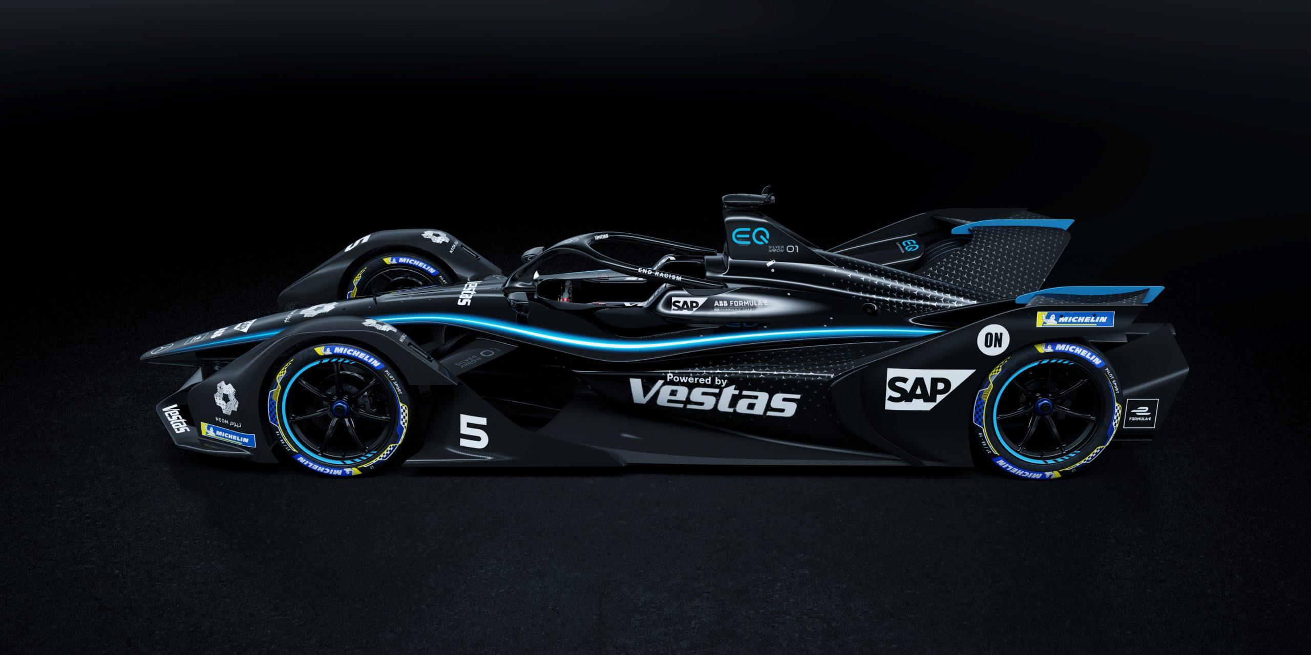 Mercedes Livrée Noire Formule E