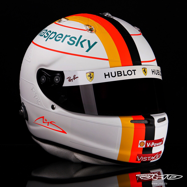 Sebastian Vettel Schumacher casque