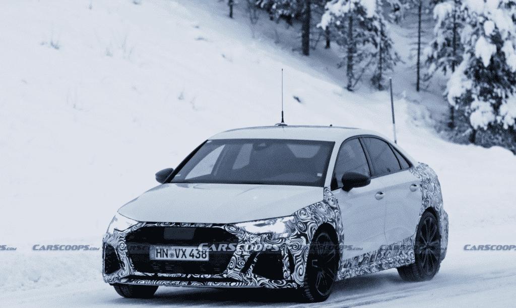 Audi RS3 Berline (2021) : la future sportive poursuit son ...
